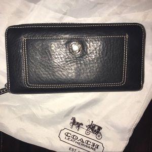 Black Coach leather wallet